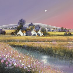 Dawn Fields by John Mckinstry - Original Painting on Box Canvas sized 20x20 inches. Available from Whitewall Galleries